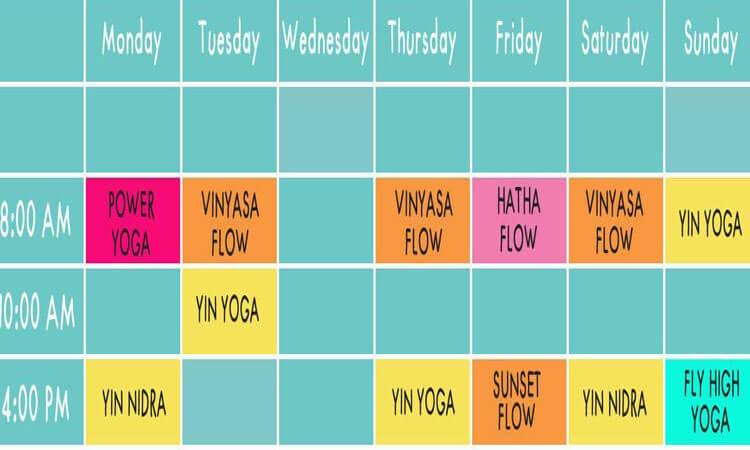BaliSpirit Serenity Yoga Lembongan Schedule