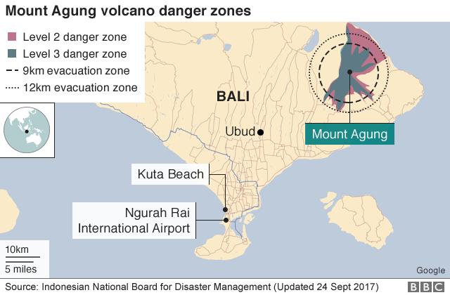 Bali Mount Agung Volcano Information Updates