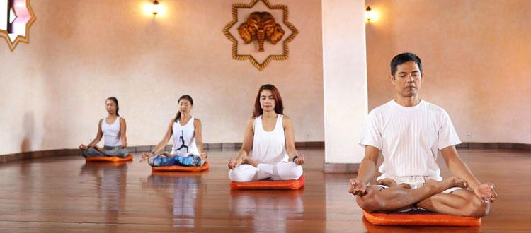 Meditation at Prana Yoga Studio in Seminyak Bali