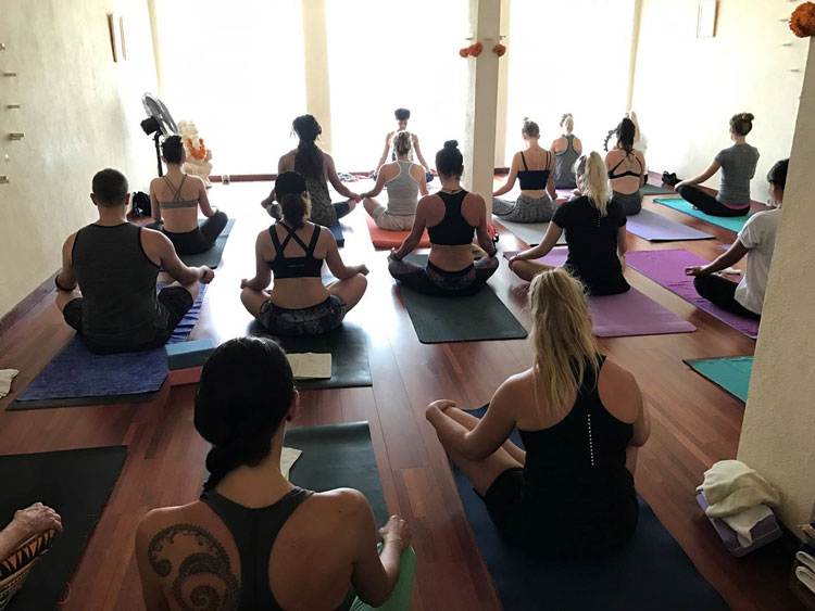 group yoga class in Seminyak Yoga Shala