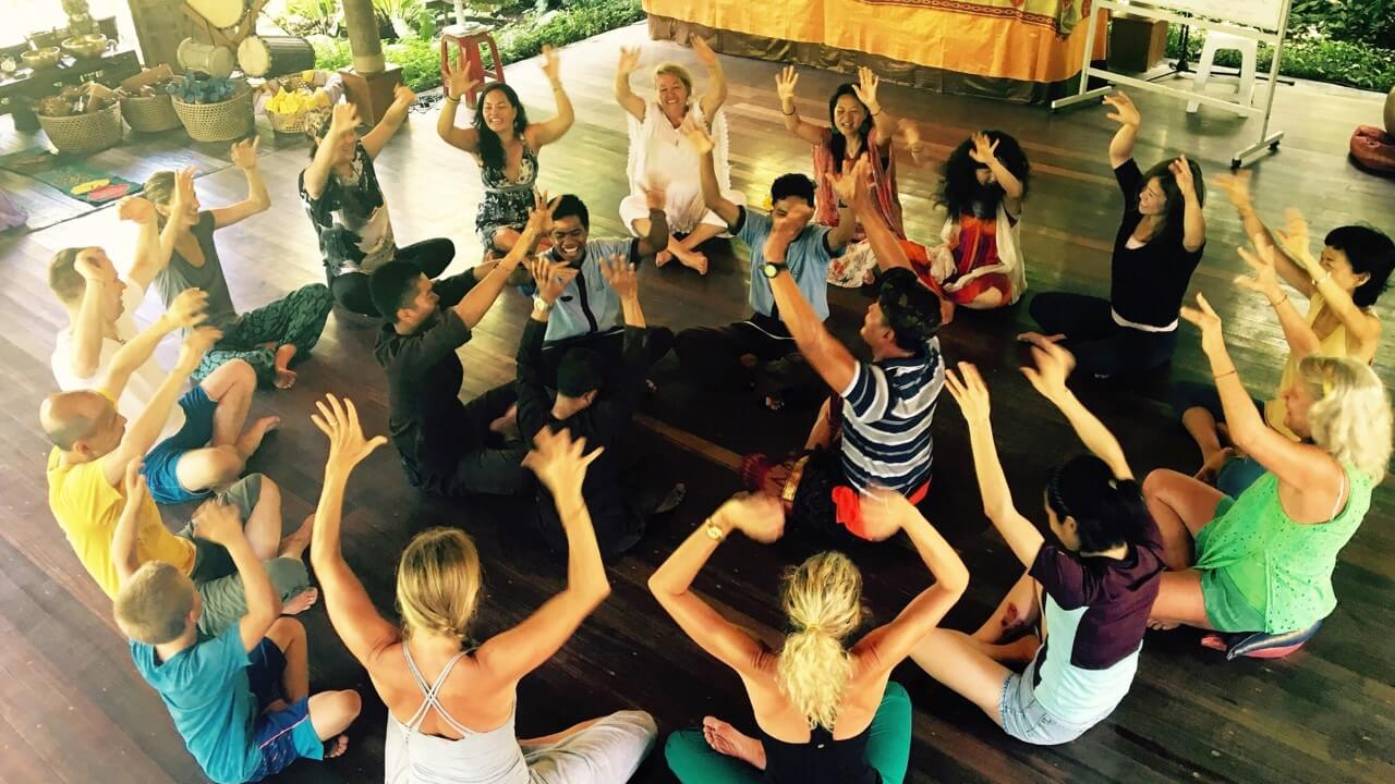 Singing circle at SpiritDance SoulSong in Bali
