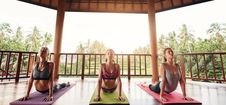 Ubud Yoga House yogis practicing in Ubud Bali