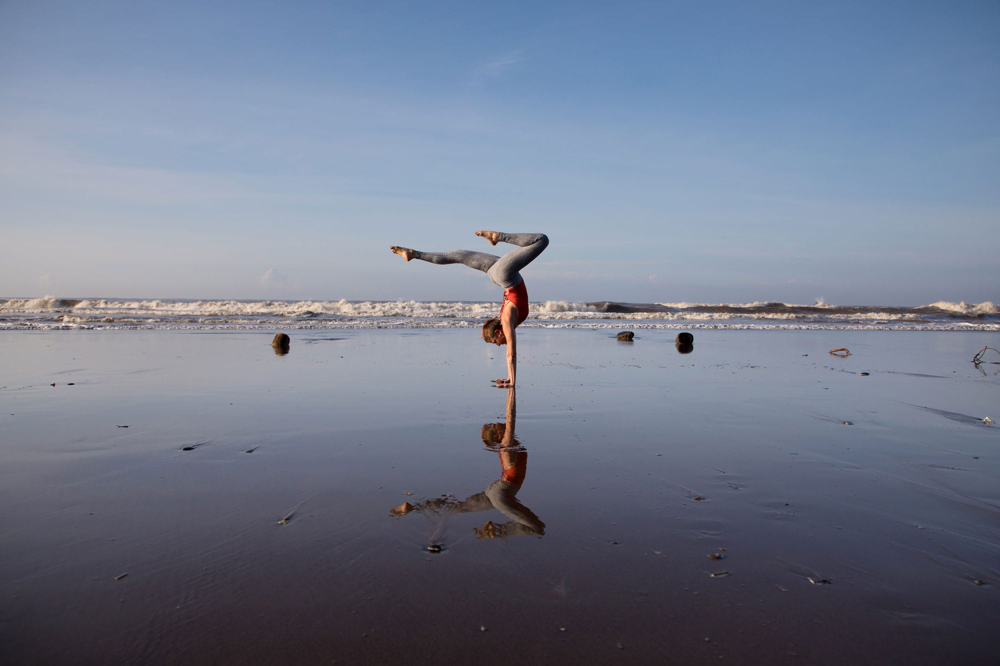 yoga photography in beach in Bali