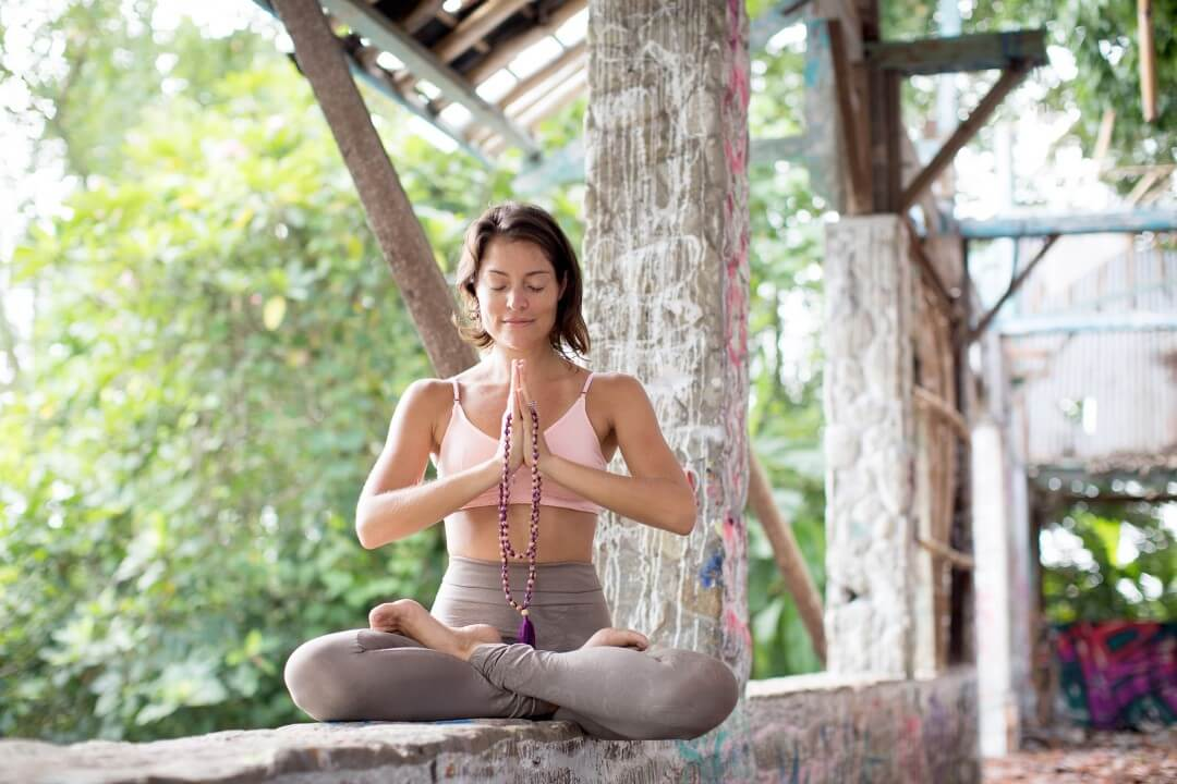 Yoga photography session meditating in Ubud Bali with Ulrike Reinhold