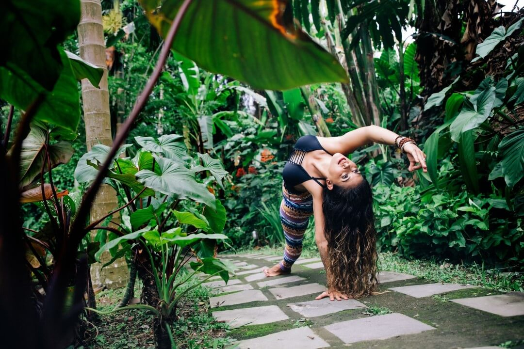 Yoga photography backbend in Ubud Bali with Ulrike Reinhold