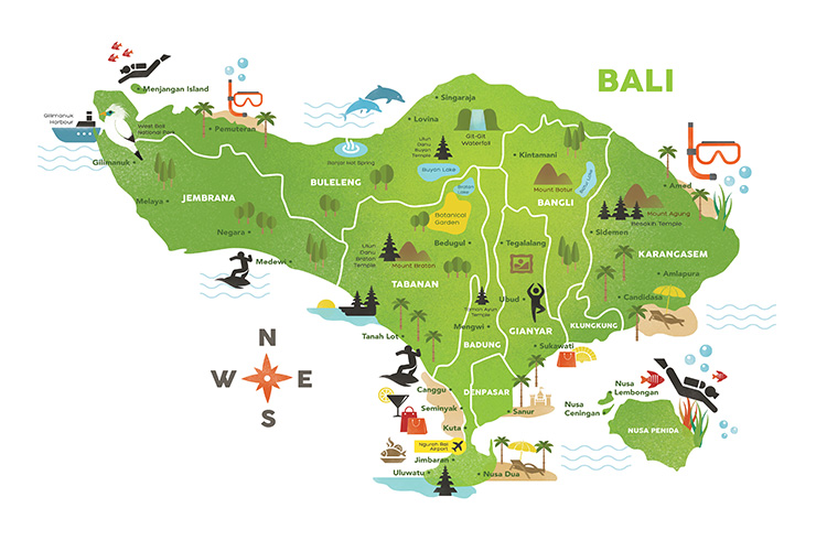Best of Bali Highlights Map