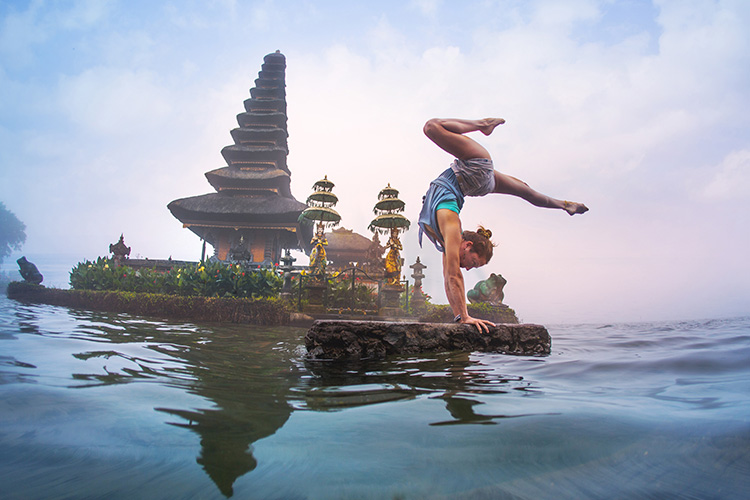 Yoga Teacher Training in Bali water view