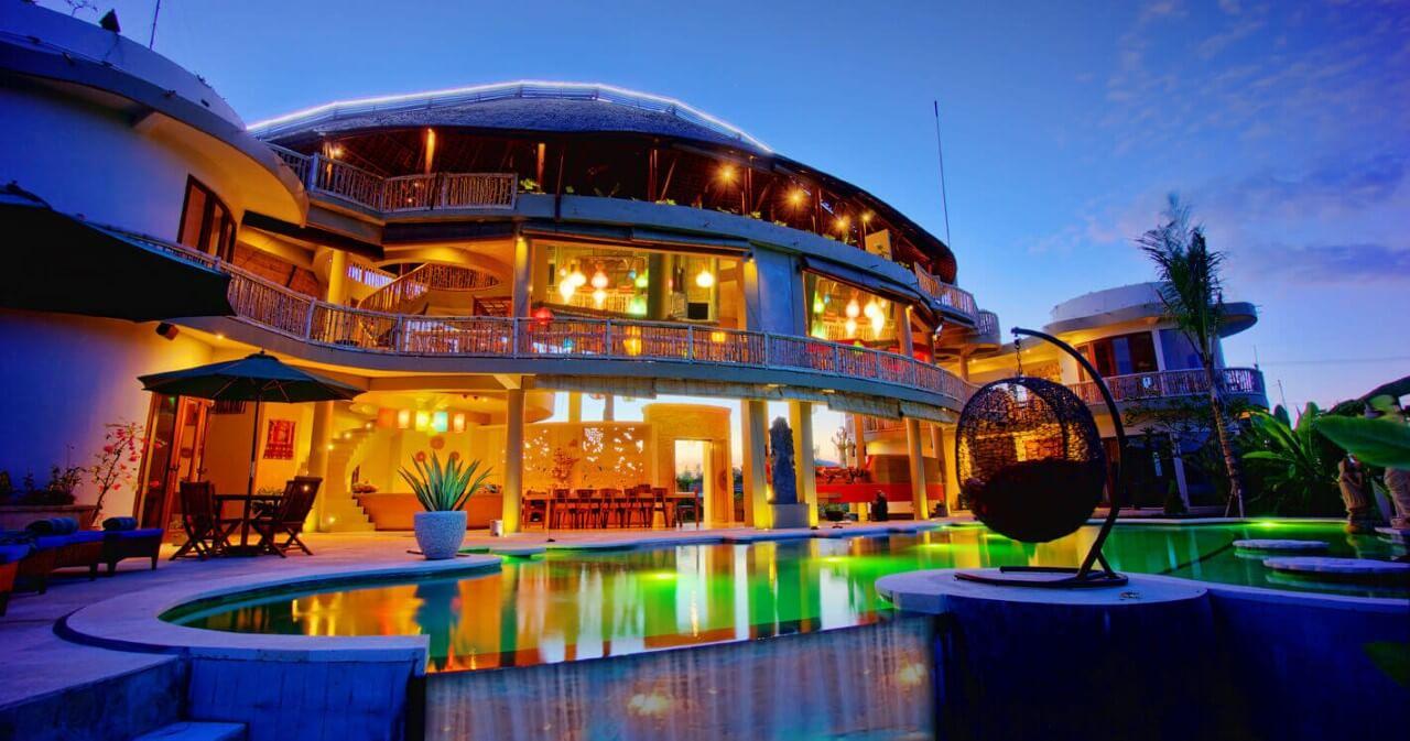 floating leaf eco-luxury retreat