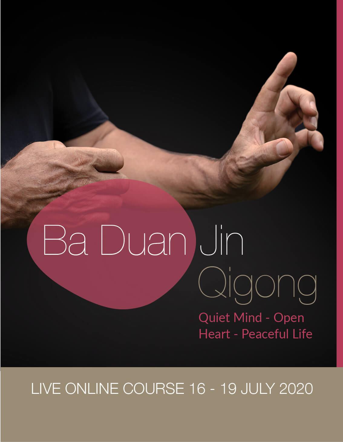 live online ba duan jin qigong training with peter caughey