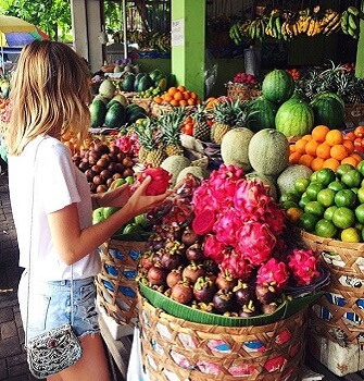 stay healthy in bali with local fruits and vegetables