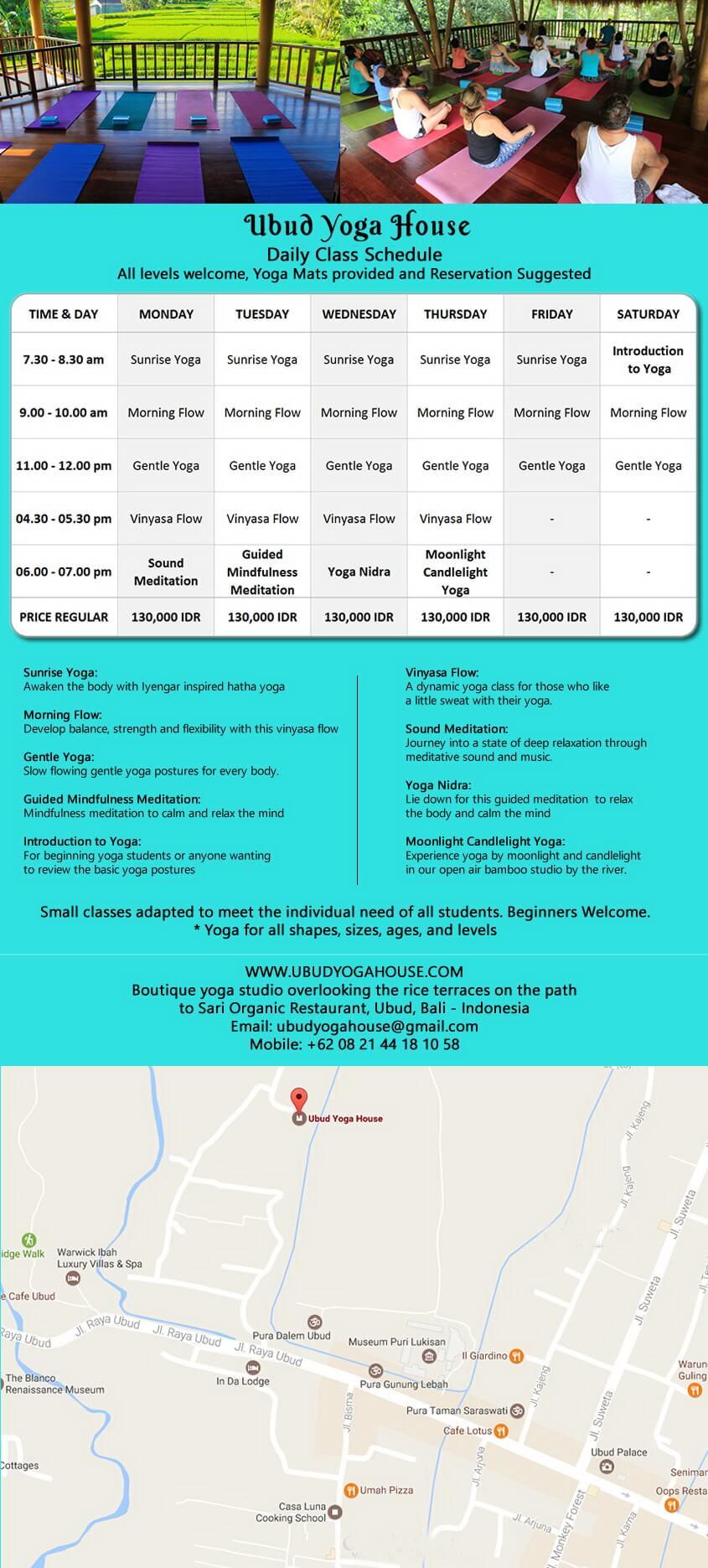 baliSpirit ubud yoga house Schedule