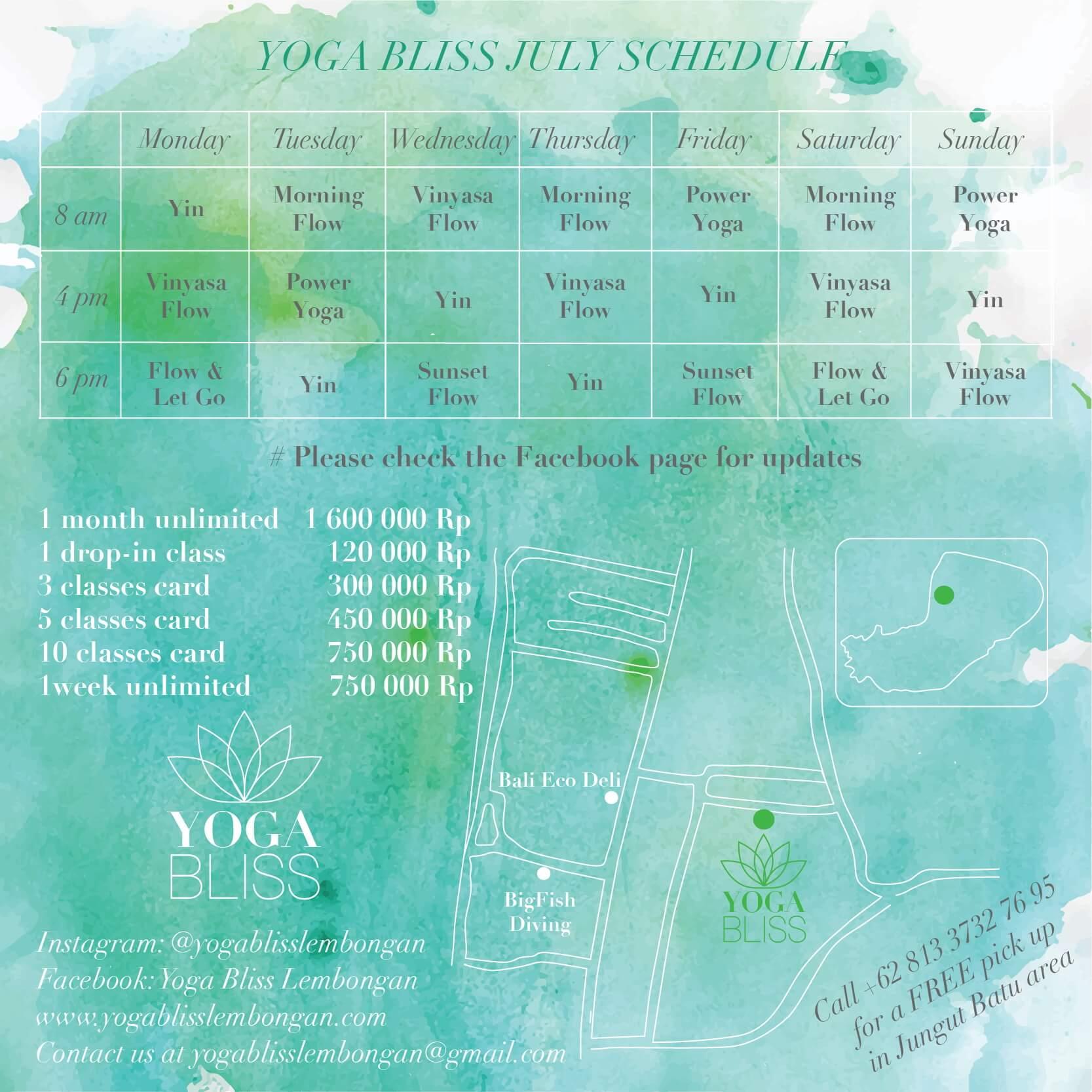 baliSpirit yoga bliss lembongan Schedule