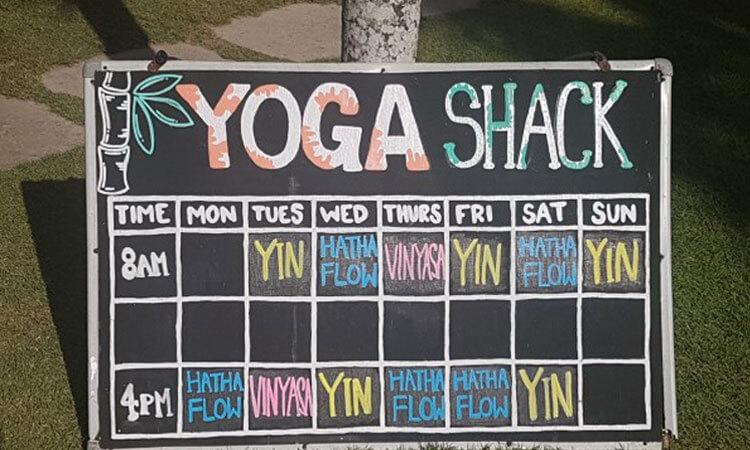 baliSpirit yoga shack lembongan Schedule